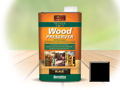 1L&5L Barrettine Holly Black PREMIER Wood Preserver stain paint decking fence