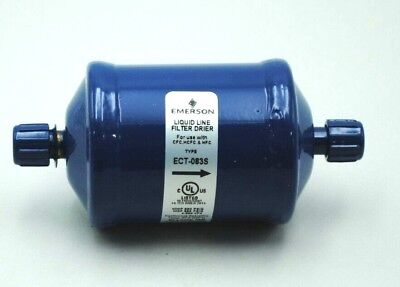 """Emerson Liquid Line Filter Drier ECT-083S  3/8"""" INLET/OUTLET NEW"""