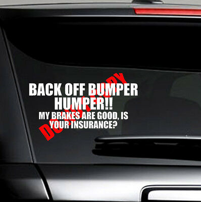 BACK OFF BUMPER HUMPER Tailgate Car Truck Window Vinyl Decal Sticker Hot Sale