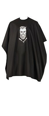 Hair Cutting Barber Cape Gown Skull design by Comair