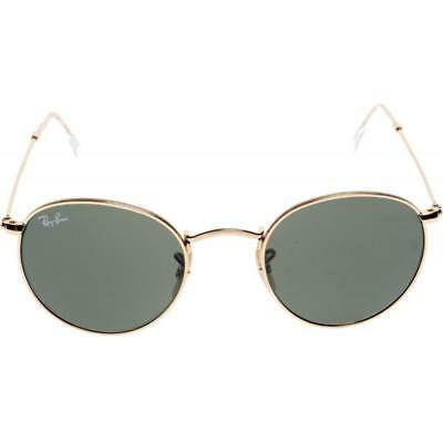 404191d01a NEW RAY BAN RB 3447 Round 001 Gold Frame  Green Classic G-15 Lens ...