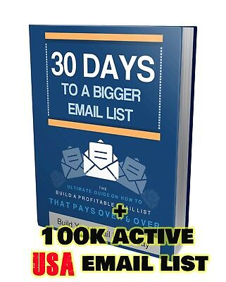 Ebook Build Your Email List Marketing PDF with USA 100k ACTIVE Email Addresses