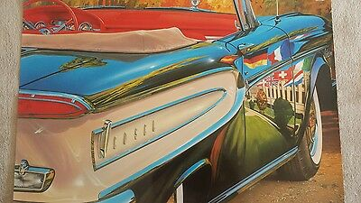 Vintage poster by REYNOLDS high quality glossy paper Ford EDSEL 1958 Convertible