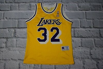 0696054afb0 RARE Magic Johnson #32 Los Angeles Lakers Authentic Champion Jersey NBA  Size M