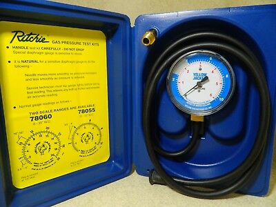 """Yellow Jacket 78055 Complete Test Kit, 0-10"""" W.C"""