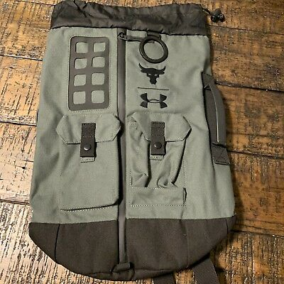 ec2f999aeee9 UNDER ARMOUR UA x PROJECT ROCK 60 DUFFLE BAG GYM BACKPACK 1318753 330 NWT