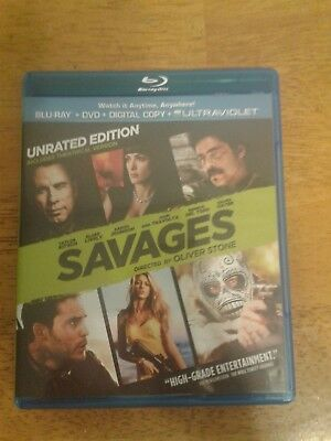 Savages Blu-Ray Dvd Pre-Owned