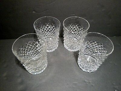 "*VINTAGE* Waterford Crystal ALANA (1952-) Set of 4 Old Fashioned 3 3/8"" 9 oz"