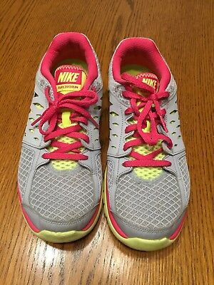 4fdd02627672 Nike Flex Fitsole 2013 Womens Running 580440-015 Pink and Gray Sneakers 9