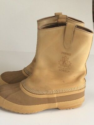 4e641165204 SOREL SLIP-ON HUNTING Duck Boots Mens Size 11-N Waterproof Thinsulate Liner