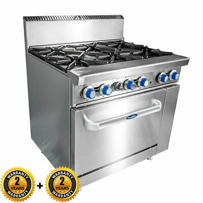 Static Gas Oven with 6 Burner Hob Range CookRite Commercial Kitchen Equipment