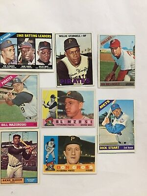 1960's Baseball Cards: Maz, Stargell, ''65 Batting Leaders, Rc & More!