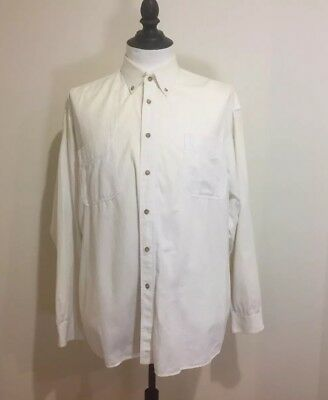 VINTAGE FLETCHER JONES - Men's Shirt Size XL - 100% Cotton - Chino Shirt