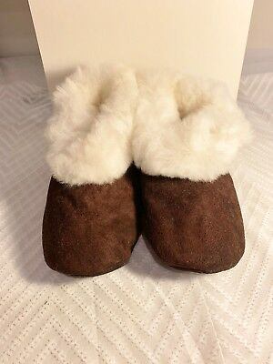 Handmade Peruvian Unisex Baby Alpaca Wool Leather Slippers Booties -Choose Size