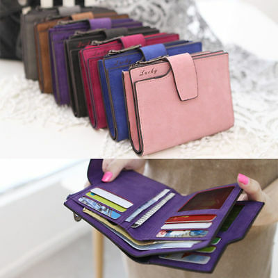 Women Ladies Wallet Leather Zip Coin Purse Clutch Handbag Small Mini Card Holder