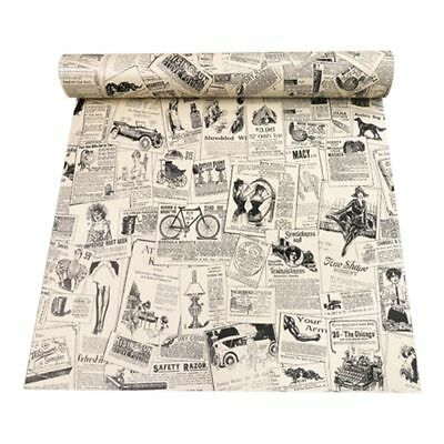 3D retro stereo imitation newspaper pattern waterproof wall stickers self-a L4U5