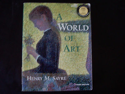 World of Art by Henry M. Sayre w/ CD ROM  (1999, Paperback) 3rd Edition