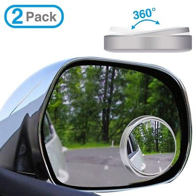2 Car Rearview Blind Spot Side Rear View Mirror Convex Wide Angle Adjustable New
