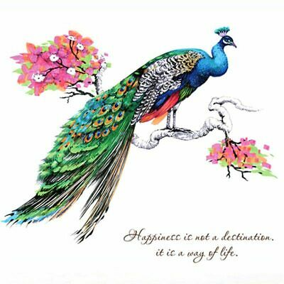 Personalized Creative Peacock Wall Art Sticker Quote Room Decoration Mural  V4L1