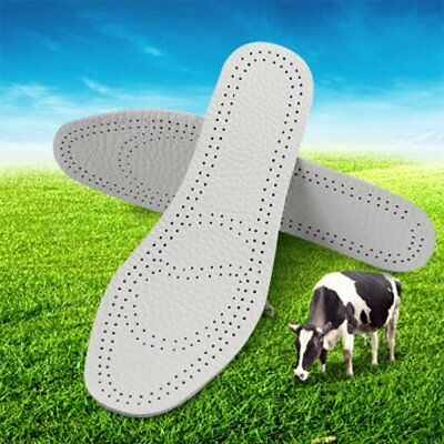 Breathable Soft Thick Cowhide Insoles Shock Absorption Sport Insoles Pads BL