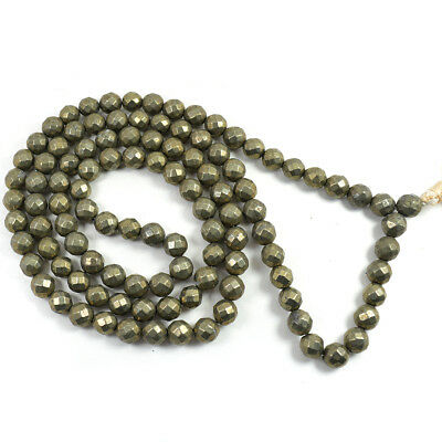 Pyrite 8mm DC Mala / Necklace Crystal Natural Stone by Reiki Crystal Products