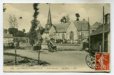 CPA - Carte Postale - France - Abbeville - Saint Maxent - La Place - 1911
