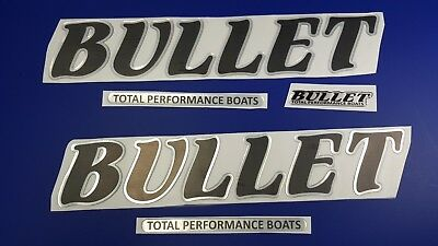 """Bullet Boats Emblem 22"""" + FREE FAST delivery DHL express- Stickers Set - Decal"""