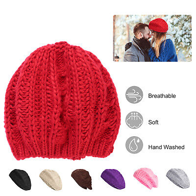067b6ebcbd20b Women Men Fashion Knit Beret Hat Winter Autumn Warm Hat Skull Cap Beanie  7Colors