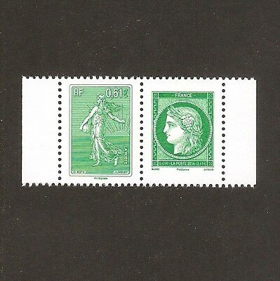 FRANCE 2014 Paire 4908/4909 LETTRE VERTE A 3 ANS  -NEUF**  LUXE MNH