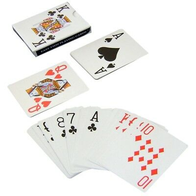 PLAYING CARDS - Poker Gaming Snap etc Deck Kings Queens Ace EASY VIEW PRINT