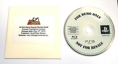 3D DOT GAME Heroes, Official Sony Ps3 Check / Debug / Dev Kit Disc, Ultra  Rare