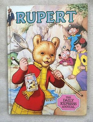 Vintage Rupert Annual Daily Express Unclipped 1986 VGC