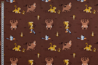 Disney The Lion King Fabric - Simba and Friends, 100% Cotton, Camelot Fabrics