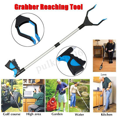 "Folding Pick Up Reaching Tool 32"" Easy Reach Grabber Stick Extend Reacher AU AU"