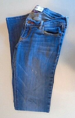 Hollister So Cal Stretch Skinny Leg Ultra Low Rise Womens Distressed Jeans Sz 25