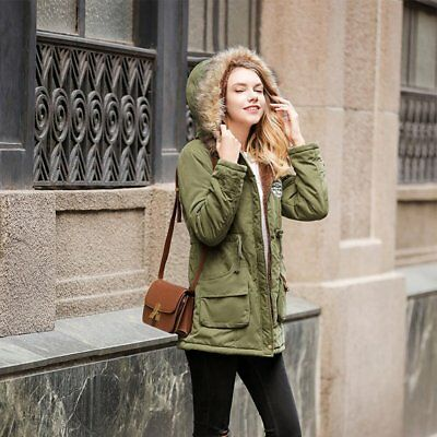 Women's Thickened Down Jacket Leisure Hooded Warm Fur Collar Cotton Clothing FQ