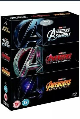 AVENGERS 3 MOVIE COLLECTION 2018 Blu Ray - Inc Infinity War - BRAND NEW - SEALED