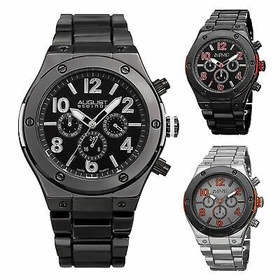 Men's August Steiner AS8126 Swiss Quartz Multifunction Date Day Bracelet Watch