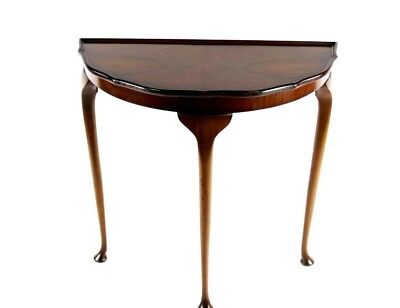 Antique English Walnut Demi Lune Console Table - FREE Shipping [PL4853]