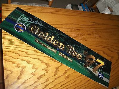 GOLDEN TEE Fore '97 Arcade Markee Header Marquee Graphics