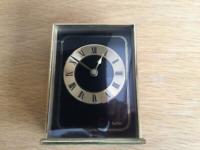 Vintage Acctim Brass Mantle Clock- Made in West Germany.Fully Working.