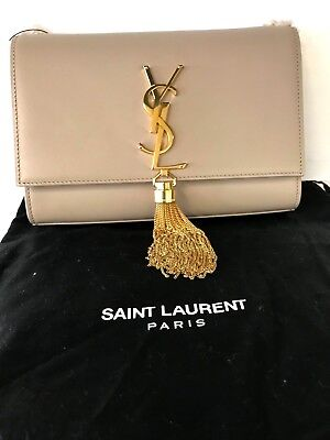 YSL SAINT LAURENT Kate With Tassel In Smooth Leather Crossbody Handbag  Authentic 7ba91cb8210da