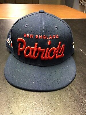 a50b3192bb5 NEW ENGLAND PATRIOTS NFL Shield Logo Reebok Flat Bill Fitted Hat Cap ...