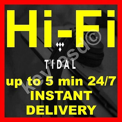 TIDAL Hi-Fi FAMILY Plan UK | GURANTEED 3 Months 6 Users | 5 min INSTANT DELIVERY