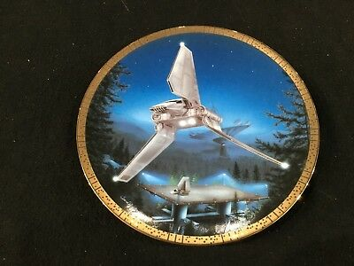 """Star Wars Space Vehicles Imperial Shuttle Limited Edition 8"""" Collector's Plate"""