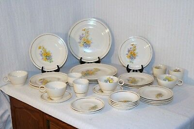 Universal Potteries UNI177 Yellow California Poppy 32 Pcs 8 Pc Plc Set Serv 4