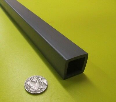 "PVC Square Tube Grey, Type I, 1.00"" x .750"" x 1/8"" Wall x 36"""