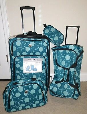 c742664bf Skyline 4 Piece Luggage Set: Roller, Duffel, Toiletry, Carry on. Travel