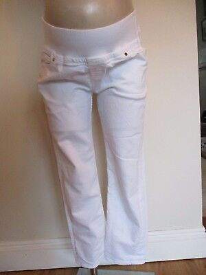 Isabella Oliver Maternity White Under Bump Straight Slim Fit Jeans Size 31R 14