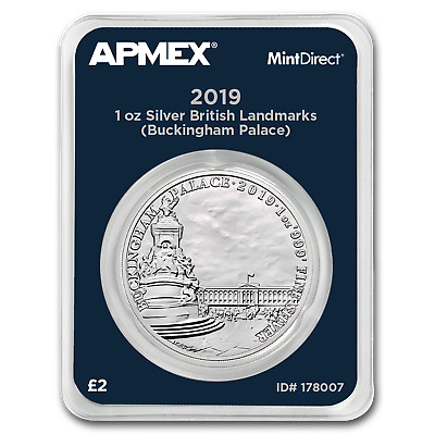 2019 GB 1 oz Silver Landmarks Buckingham Palace (MintDirect®) - SKU#178007